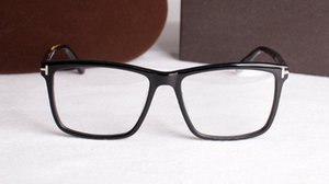 Fashion Rectangle big-rim TF5407 unisex glasses frame 54-17 high-quality pure-plank full-rim prescription eyeglasses full-set case wholesale