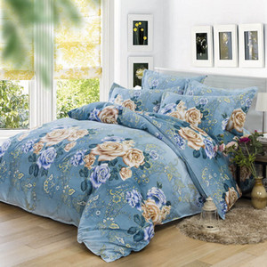 200*230cm luxury bedding set bedclothes sets bedding article Plant cashmere bed sheet   duvet cover   pillowcase 4pcs  set Home textile on Sale