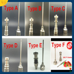 Wholesale best price pure gr2 domeless titanium nail carb cap with titanium dabber E Nail Dab fit smoking glass pipe
