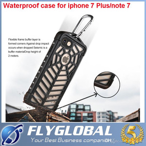 Wholesale For Note Spider case Waterproof Shockproof Dirtproof Diving Cover Case For Iphone Plus Hard PC TPU Cellphone bag With Retail Package