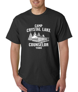 2017 New Summer Men Hot Sale Fashion Camp Crystal Lake Counselor T-Shirt -Friday 13th Jason Voorhees Freddy Halloween