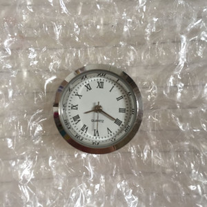 25mm Latest 2017 good quality small Mini silver white Roman clock insert chinese movement for craft products