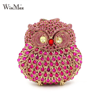 Wholesale owl shaped bags for sale - Group buy Winmax diamonds eyes shiny Owl shape women cltch Dazzling handmade prom evening hand bag Luxury party bags crystal clutch bag