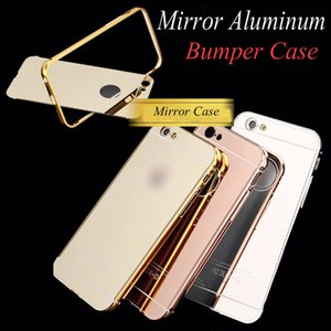 Wholesale Hot sale For iphone s plus plus s7 Mirror aluminum bumper case For IPHONE SAMSUNG LG HUAWEI XIAOMI SONY DHL SCA170
