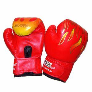 New 1pair Children Boxing Gloves Mma Karate Guantes De Boxeo Kick Boxing Luva De Boxe Boxing Equipment Jumelle Boy 3 -12years