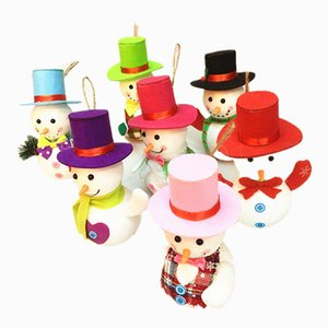 Christmas foam, three-dimensional snowman, led with lights, Christmas pendants, christmas colorful hats, snowman decorations on Sale