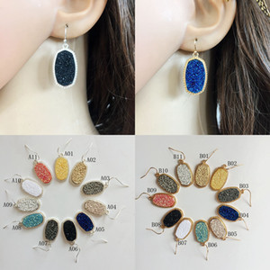 High quality Ladies Resin Dangle Earrings Silver&Gold Filled geometric Drop Earring For women Fashion Luxury Jewelry in Bulk