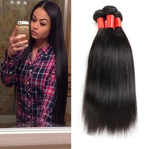 Wholesale 4pcs UNPROCESSED Virgin Braziilan Hair Weave Straight Hair Extensions A Peruvian Malaysian Indian brazilian Hair Bundles TOP SELLING