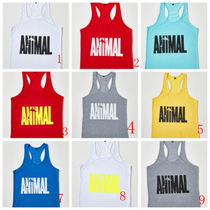 Hot Sale Brand GYM Animal Tank Tops For Men Bodybuilding Mens Muscle Tanks Tops Fitness Stringer Cotton Vest Shirts