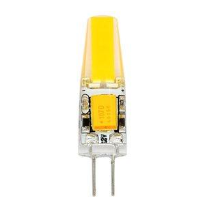 Wholesale G4 W COB LED Warm White Light Lamps AC DC V Non dimmable Equivalent to W T3 Halogen Track Bulb Replacement LED Bulbs