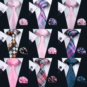 900 styles Classic Wholesale New Style Mens Tie Set Silk Hanky Cufflinks Jacquard Woven Necktie Men's Tie Set Business Party Work Wedding