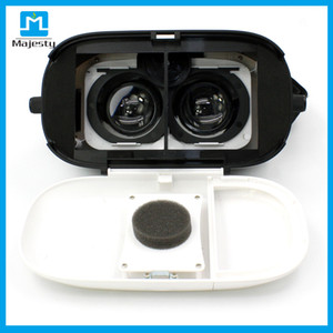 Wholesale New Virtual Reality D VR Glasses for iPhone s Plus Samsung HTC Sony and Other Android Smartphones White vr box d glasses