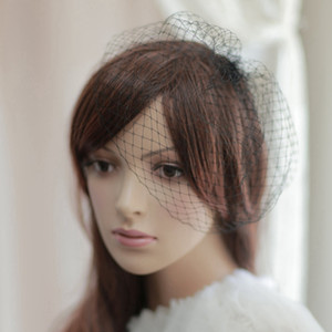 Wholesale White Black Birdcage Veils For Brides Wedding Accessories Short Bridal Veil Velos De Novia Birdcage Veil With Comb