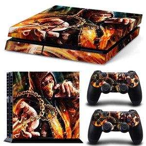 New Arrive Mortal Kombat X Vinyl Skin Sticker Protective Decor Decals For Sony PS4 Console & 2 PCS Cover Skins of Controllers