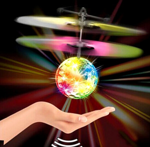 New Design Mini Eye-catchingChildren Flying Crystal Ball LED Mini USB Charging Helicopter Flashing Stage Light