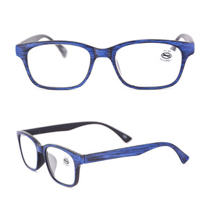 Wholesale Men's Reading Glasses Black Wood Rectangle Readers Red for Man Fashion Olders Magnification in Strength +1.00 2.0 3.0 175098