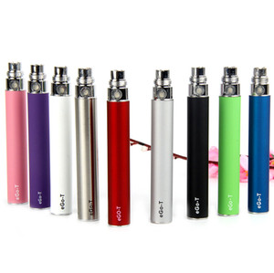 Wholesale eGo t battery eGo evod thread batteries mah and USB popular vape pen come with ego with usb charger e cigs DHL shipping