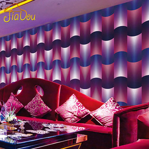 Wholesale ktv tv resale online - 3D Stereoscopic Abstract Art PVC Wallpaper KTV Bar Living Room TV Background Wallpaper Waterproof Home Wall Decor Paper Rolls