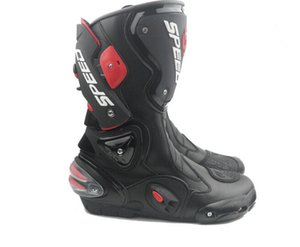 Motorcycle Boots Moto Racing Motocross Off-Road Motorbike Shoes Black White Size 40 41 42 43 44 45 on Sale