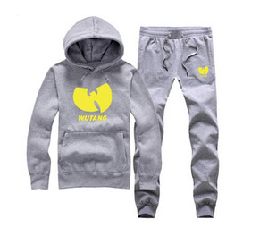 Wu-Tang sweat suit (S-5XL) Men Print Hoodies Cotton Sweatshirt Male Tracksuit Hooded Patchwork Sports Male set on Sale