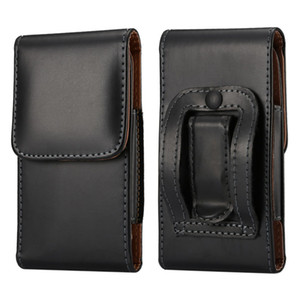 Wholesale Universal PU Leather Pouch Belt Clip Flip Case Holster for iPhone S S s Plus Waist Bag