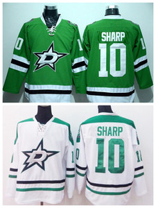 Wholesale Patrick Sharp 10Dallas Stars Ie Hockey Jerseys Cheap Patrick Sharp Jersey Men For Sport Fans Pure Cotton Team Color Green White