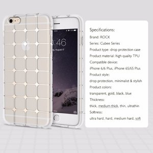 Wholesale ROCK Soft Silicon Case for iPhone plus mm TPU Crystal Clear Transparent Phone cases for iPhone s s plus