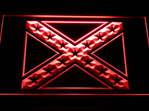 Wholesale e051 Rebel Confederate Flag LED Neon Sign Bar Beer Decor Dropshipping colors to choose