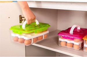 Wholesale Multifunctional Egg Food Container Storage Box Grid Bilayer Basket Organizer Home Kitchen Gadgets Items Accessories Supplies Products