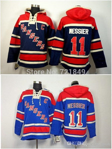 Wholesale 2016 new Drop Shipping Low Price ny New York Rangers Jerseys Mark Messier Old Time Hockey Hoodies Sweatshirts