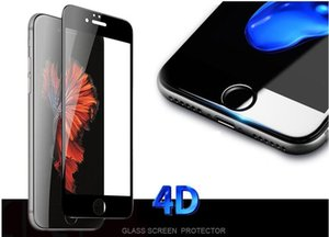Wholesale For iPhone Full Screen protector Tempered Glass D Curved Surface Cover Explosion proof Tempered Glass Film H Hardness Anti Water Oil