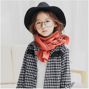 Wholesale 2016 New Autumn Winter Baby Girl Boy Brand Designer Child Scarves Kids Warm Cotton Linen Scarf Free Size For Years W004