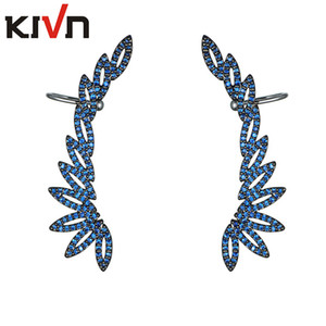 KIVN Fashion Jewelry CZ Cubic Zirconia Womens Girls Ear Cuff Ear Crawler Climber Earrings Christmas Birthday Mothers Day Gifts on Sale