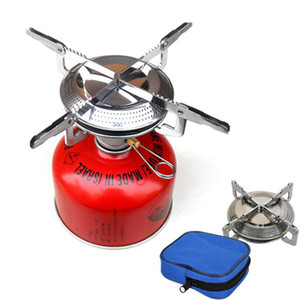 Wholesale gas stove accessories resale online - New Portable Outdoor Picnic Gas Stove Foldable Wild Dish Camping Mini Steel Stove Case