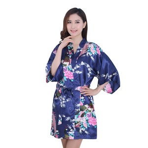 839ffc71807 Wholesale-Sexy Women s Kimono Robe Peacock Print Design Long Sleeve Clothes  on Sale