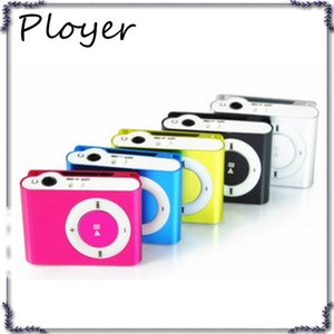 Wholesale Fashion Mini Cheap Clip Digital Mp3 Music Player USB with SD card Slot black silver mixed colors include earphone and charger