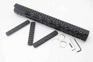 Wholesale 13 Inch Free Float Key Mod Handguard Rail Black with Steel Aluminum Barrel Nut Picatinny Rail Section