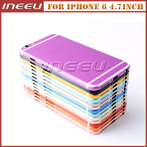 Metal Back Housing Covers for iPhone 6 Aluminum Alloy Colorful Middle Frame Battery Door Replacement Cover Case for Apple 6