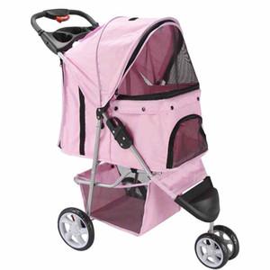 Pet Stroller Cat Dog 3 Wheel Walk Jogger Travel Folding Carrier