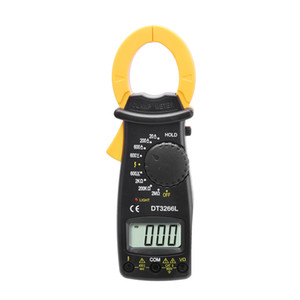 ingrosso multimetro digitale a tasca-DT3266L AC DC Mini Pocket Handheld Digital Clamp Meter Tensione Tensione Resistenza Tester Multimetro con cavi di prova Multimetro