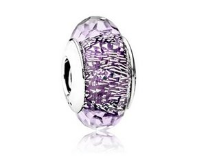 Wholesale Fits Pandora Bracelets Dark Purple Shimmer Silver Murano Beads Autumn Sterling Silver Charms DIY Jewelry