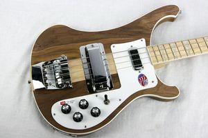 Free Shipping 4001 RARE TRANSLUCENT WALNUT vintage 4000 4003 4 String Electric Bass Guitar Neck Thru Body One PC Neck & Body
