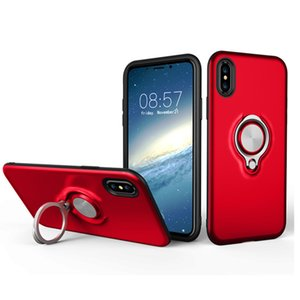 Wholesale Hybrid Armor Cases With Ring Holder For IPhone XR XS MAX Plus S S9 S8 Plus Woft Design