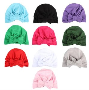 Wholesale Fashion Bandanas Head wrap Cotton Bow Turban Knot Headband Head Wraps Girl Hair Accessories