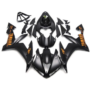 Wholesale Injection fairings for Yamaha YZF YZF R1 YZF R1 ABS plastic fairings kit Full Matt Black Orange Decals