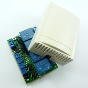 433M DC 12V 4Ch Timer RF Wireless Controller Delay Relay Learning code Switch for EV1527 PT2262 ASK OOK Remote control