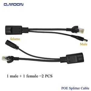 Wholesale Dc V mm male female POE Adapter cable Injector Power supply synthesizer separator combiner POE switch Splitter