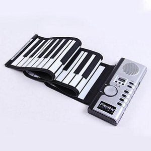 Wholesale Flexible Synthesizer Hand Roll up Roll Up USB Soft Portable Electronic Piano Keyboard Keys MIDI Build in Speaker with CE