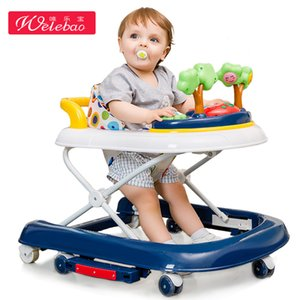Activity Baby Walker Multifunctional Anti-rollover Folding Portable Toy,with Music & Light Floor Seat Activity & Entertainment