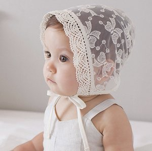 Wholesale baby hat bonnet for sale - Group buy Sweet Princess Hollow Out Baby Girl Hat Summer Lace up Beanie lace embroidered Bows Bonnet Enfant for M A8996